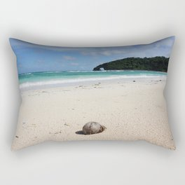 The Coconut Nut is a Giant Nut - beach view Rectangular Pillow