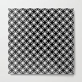 Black and white interlocking circles Metal Print