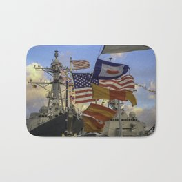 Full Flagged Ship Bath Mat