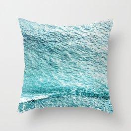 CLEAR BLUE SEA in Greece Throw Pillow