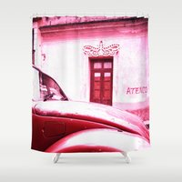 vw Shower Curtains featuring VW Kaefer by Julia Aufschnaiter