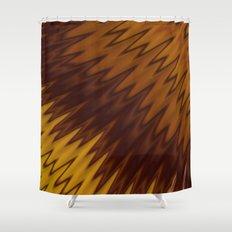 Yellow/Brown Diagonal Pattern Shower Curtain