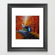 robot knight Framed Art Print