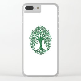 Tree of life green Clear iPhone Case