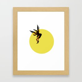 Icarian Fall#3: TheSunThatMelted Framed Art Print