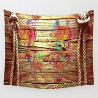 lions Wall Tapestries featuring Colors & Lions by Bianca Sale