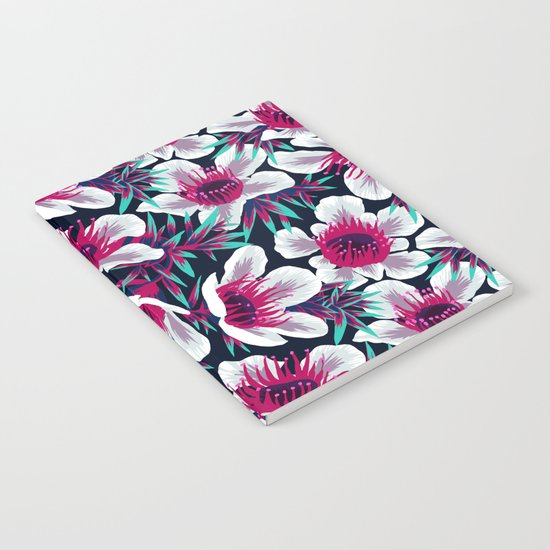 Manuka Floral Print -  Light Notebook