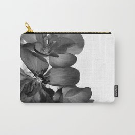 Black Geranium in White Carry-All Pouch