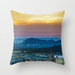 Twiglight Landscape Scene Guayaquil, Ecuador Throw Pillow