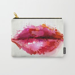 Beautiful womans lips formed Carry-All Pouch