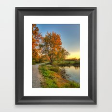 October Walk 1 Framed Art Print