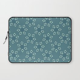 Blooming Flowers Daisy Circle Seamless Pattern Laptop Sleeve