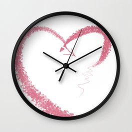 Lovely Heart Wall Clock