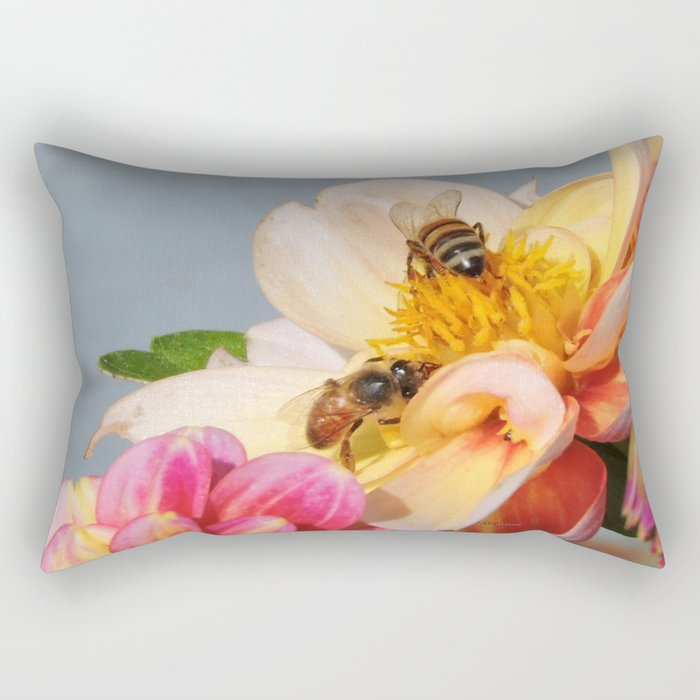 Honeybees at Work Rectangular Pillow