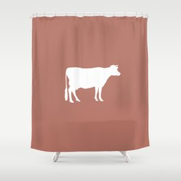 Cow: Rust Red Shower Curtain