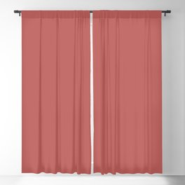 From The Crayon Box – Chestnut Red Solid Color Blackout Curtain