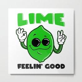 Cook Food Feelin 'Good Lime Metal Print
