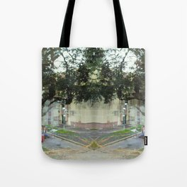 Alike, several times, repetitive assimilation, yards. Tote Bag