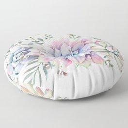 succulent watercolor 1 Floor Pillow