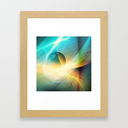 Abstract Space Sphere and Flow Framed Art Print