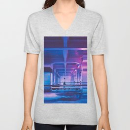 Glitchy Dreams Of You Unisex V-Neck