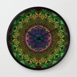 Mandala Glitch Crochet String Sun Wall Clock