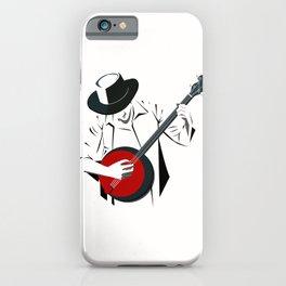 A Man Playing Banjo 2 iPhone Case