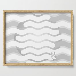 012 OWLY clouds Serving Tray