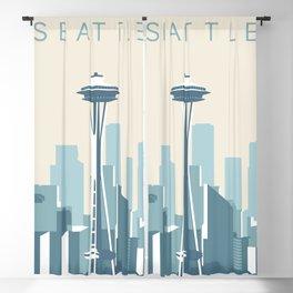 Seattle Cityscape Blackout Curtain