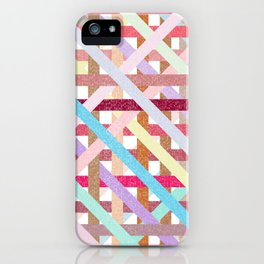 Structural Weaving Lines iPhone Case