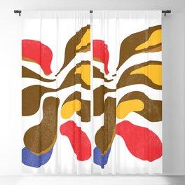 Flower paint minimal scandinavian Blackout Curtain