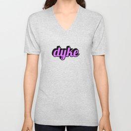 Dyke - purple Unisex V-Neck
