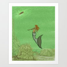 The Golden Mermaid Art Print