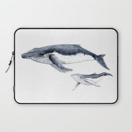 Humpback whale with calf Laptop Sleeve