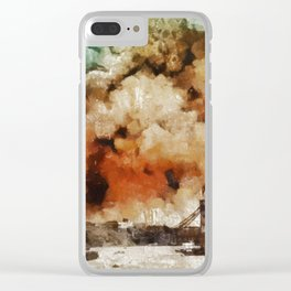 The Blitz, London, WWII Clear iPhone Case