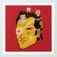 quentin tarantino Art Prints featuring Quentin by Derek Eads