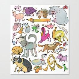 Dog Doodle Canvas Print