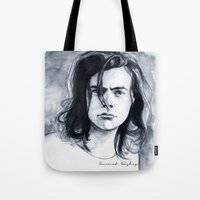 coconutwishes Tote Bags featuring Harry Watercolors B/N by Coconut Wishes