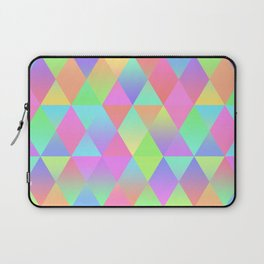 Colorful Geometric Pattern Prism Holographic Foil Triangle Texture Laptop Sleeve