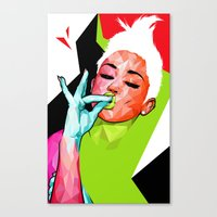 "miley Canvas Prints featuring ""MILEY"" by DE'TALE"