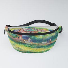 13,000px,500dpi-Pierre Auguste Renoir - The pierson white challet in pourville - Digital Remastered Edition Fanny Pack
