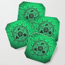 Green Circle Of Triangle Coaster