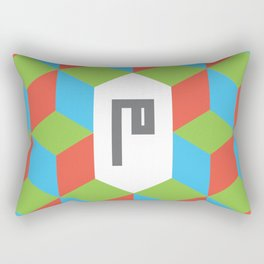 "Monogram Arabic Letter ""M"" Rectangular Pillow"