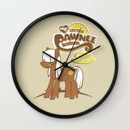 My Little Pawnee Wall Clock