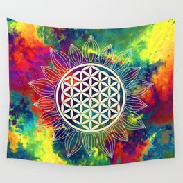 Flower Of Life (Lively World) Wall Tapestry