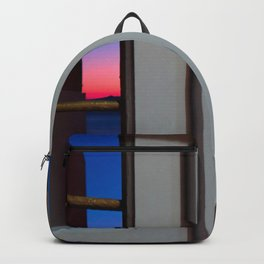 Sunset through the door Backpack