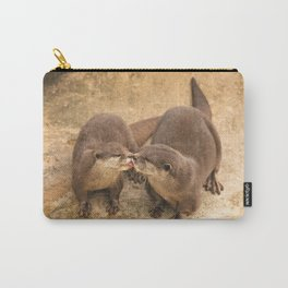 Kissing Otters Carry-All Pouch