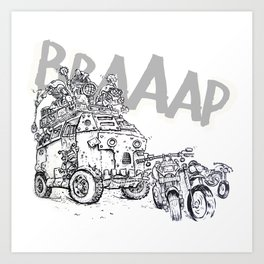March of the Motorborgks - ink Art Print