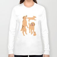 golden retriever Long Sleeve T-shirts featuring Golden Retriever by Tomoko K