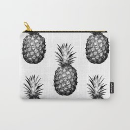 Black & White Pineapple Carry-All Pouch